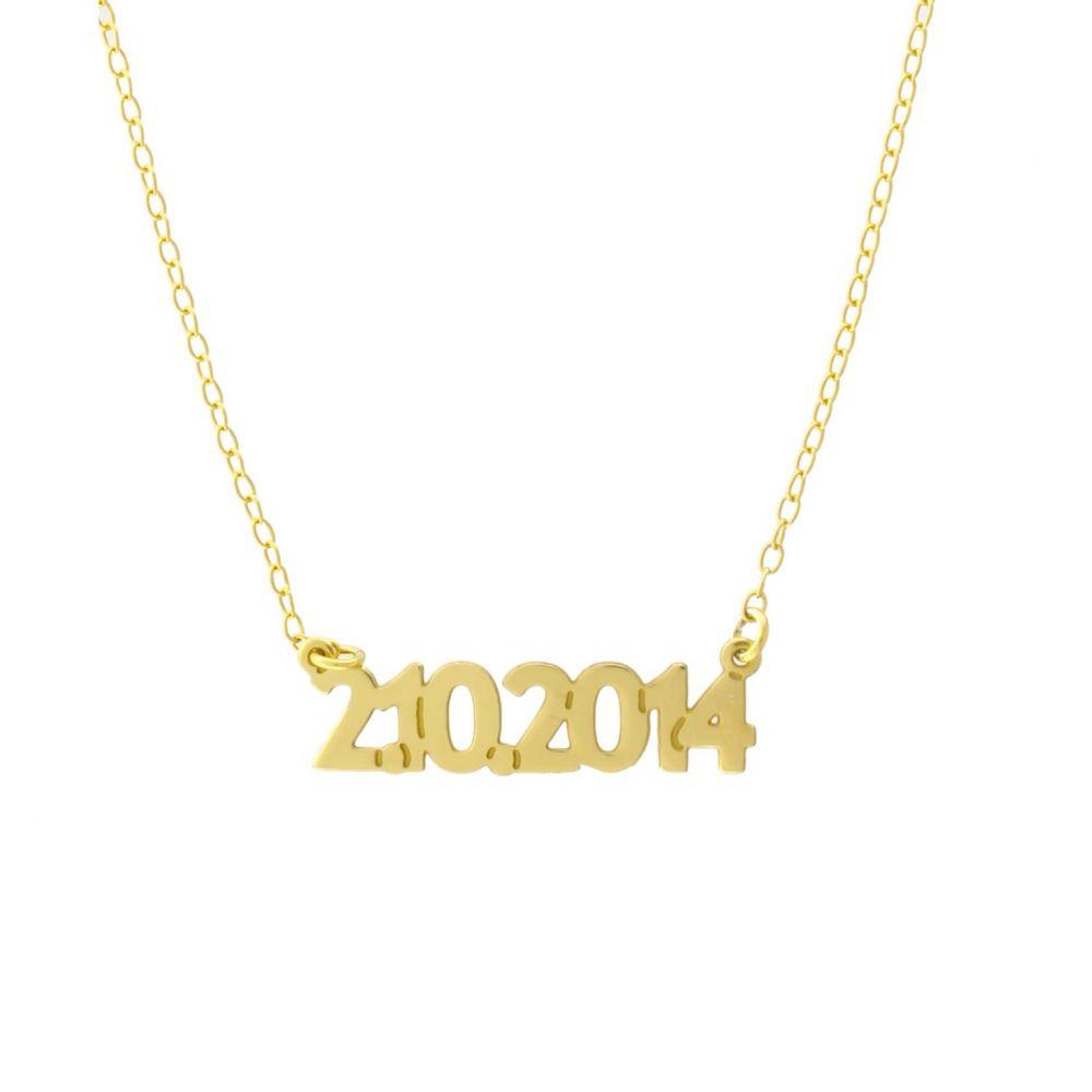 Gargantilla plata fecha personalizada