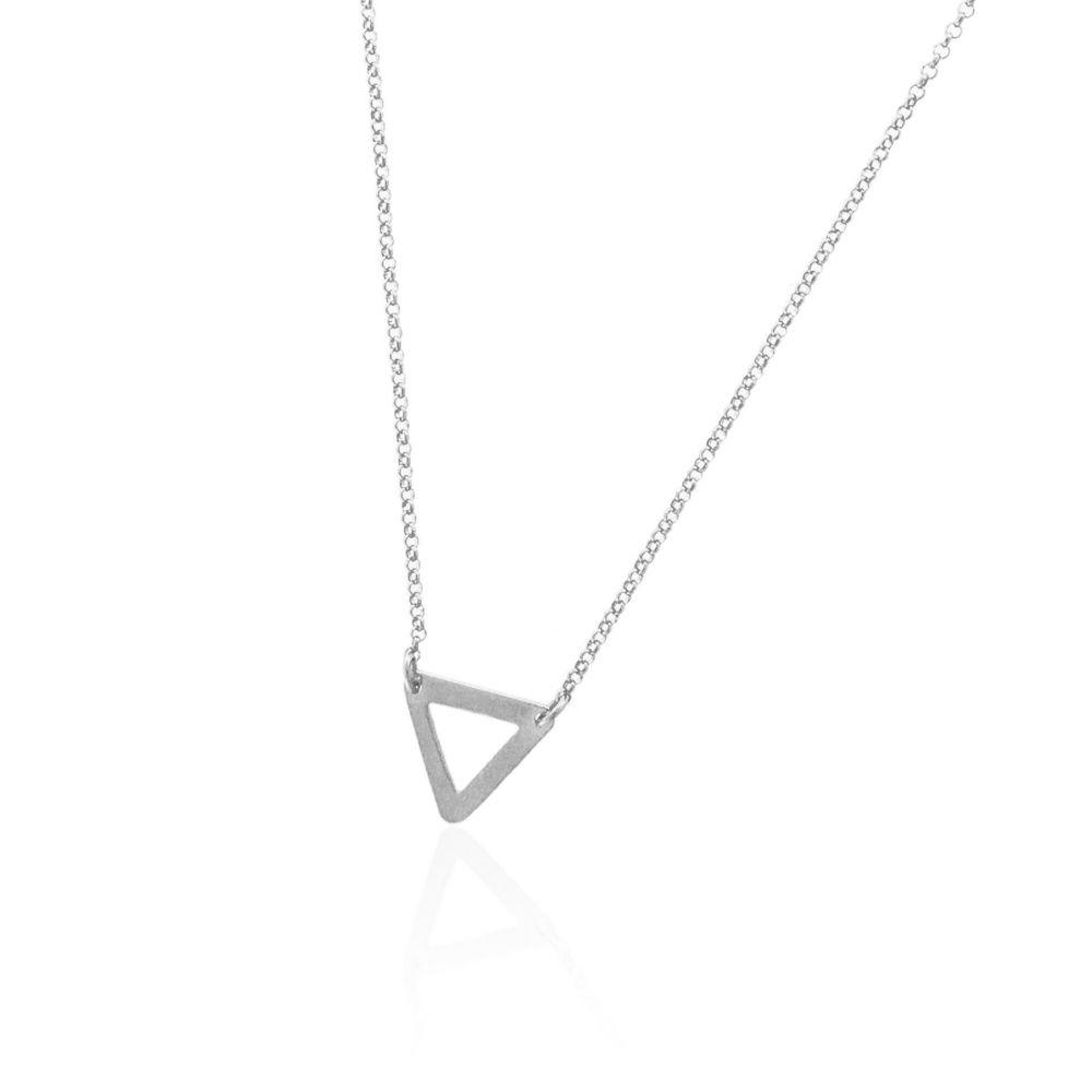 Gargantilla plata triángulo Trendy