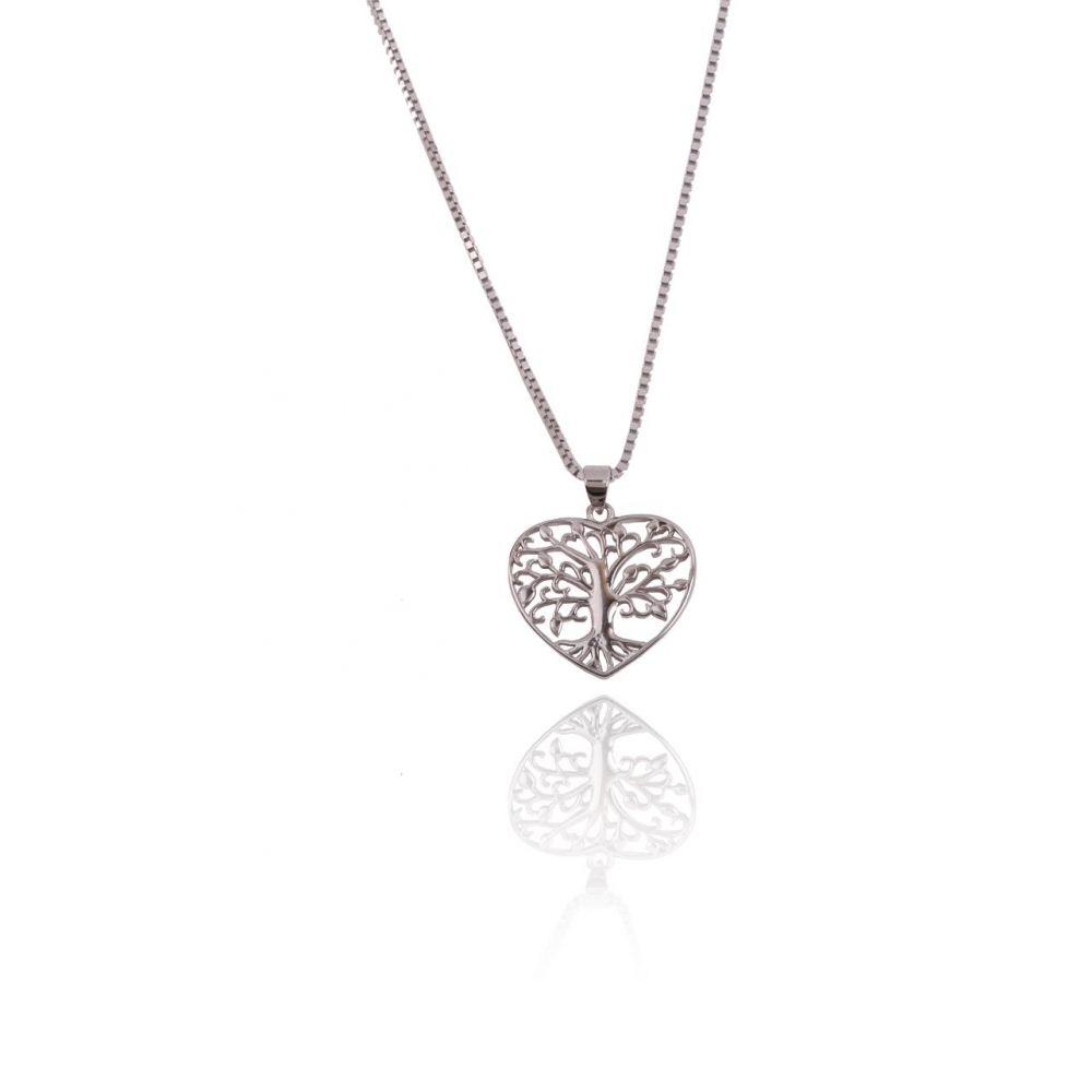 cfa0a57c42c3 Gargantilla Plata Corazón Árbol de la Vida