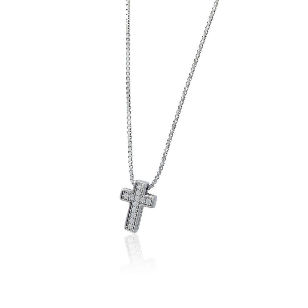 Gargantilla plata cruz Roselin