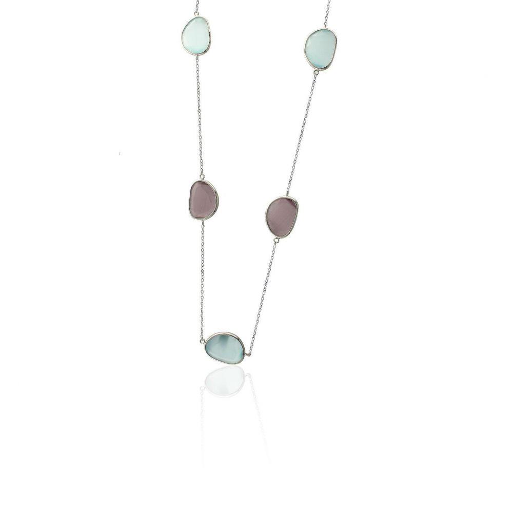 Gargantilla plata piedra color Luxilver