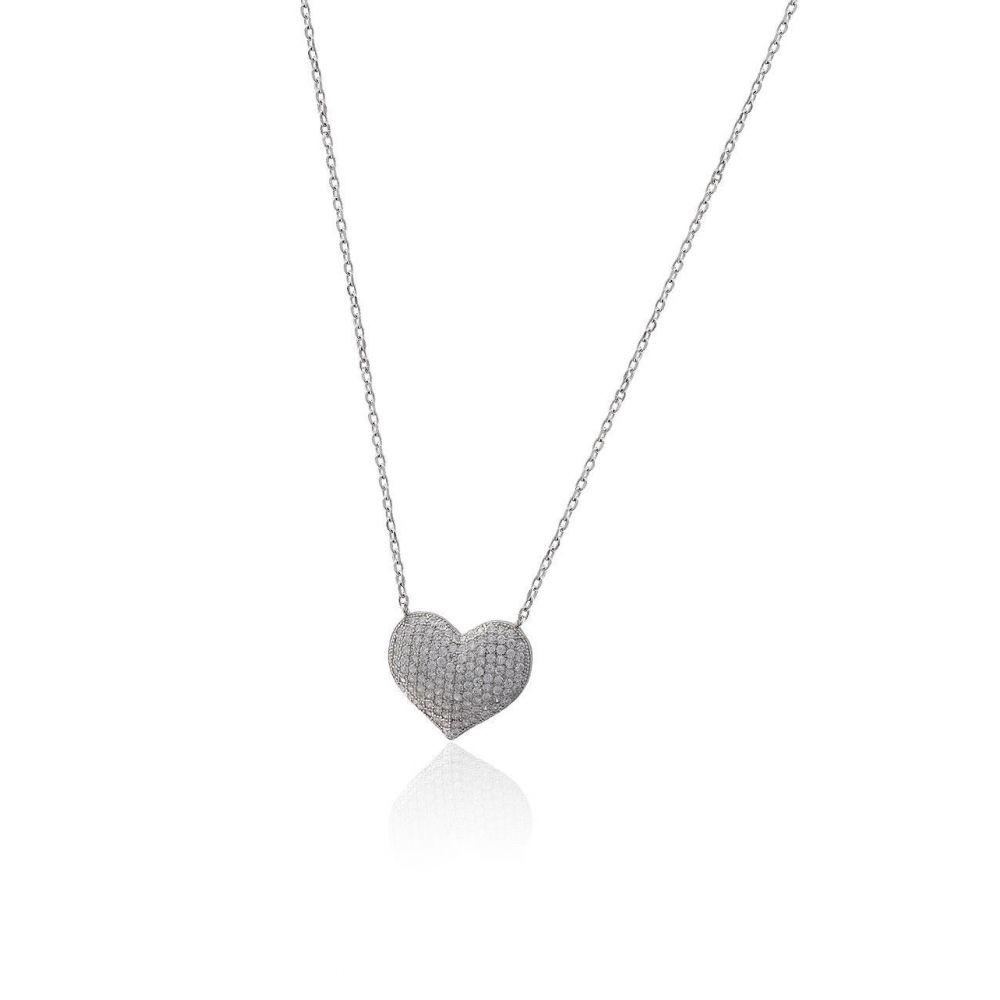 Gargantilla plata corazón Roselin