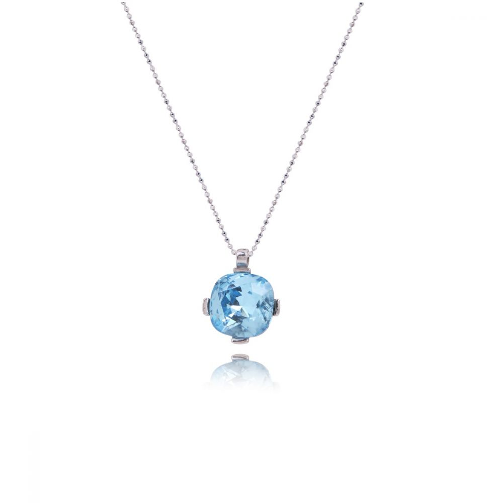 Gargantilla Piedra Azul Plata Luxilver