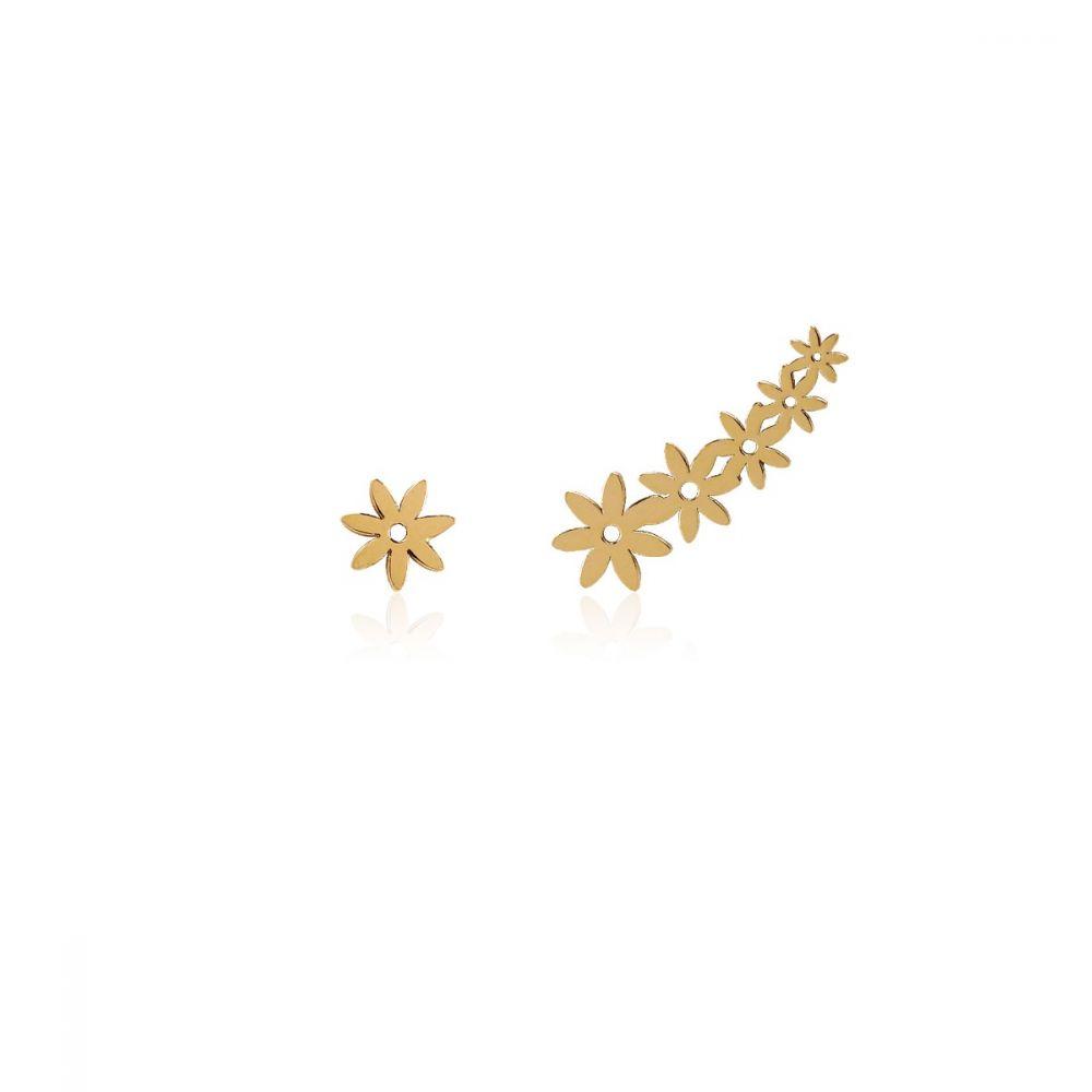 Trepadores combinados Flores Oro 18k