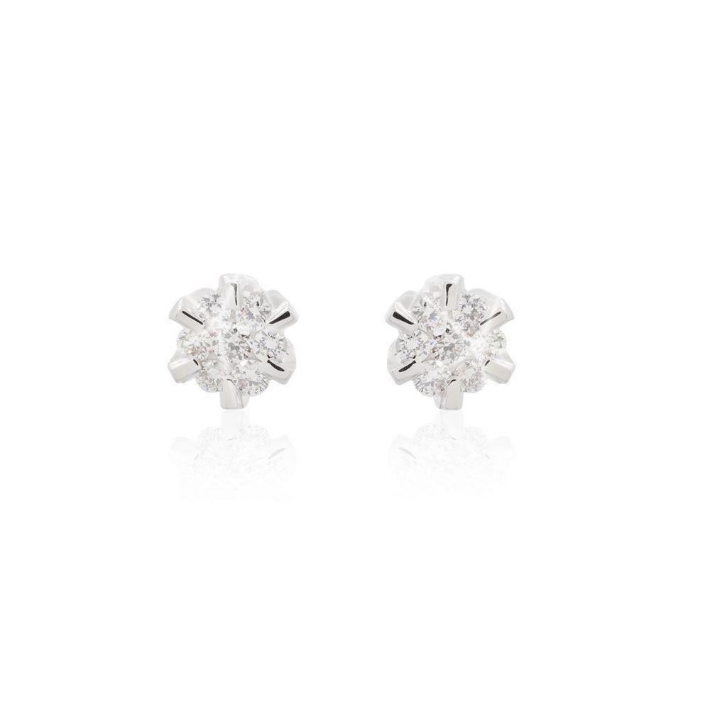 Pendientes Oro blanco 18kts y diamantes