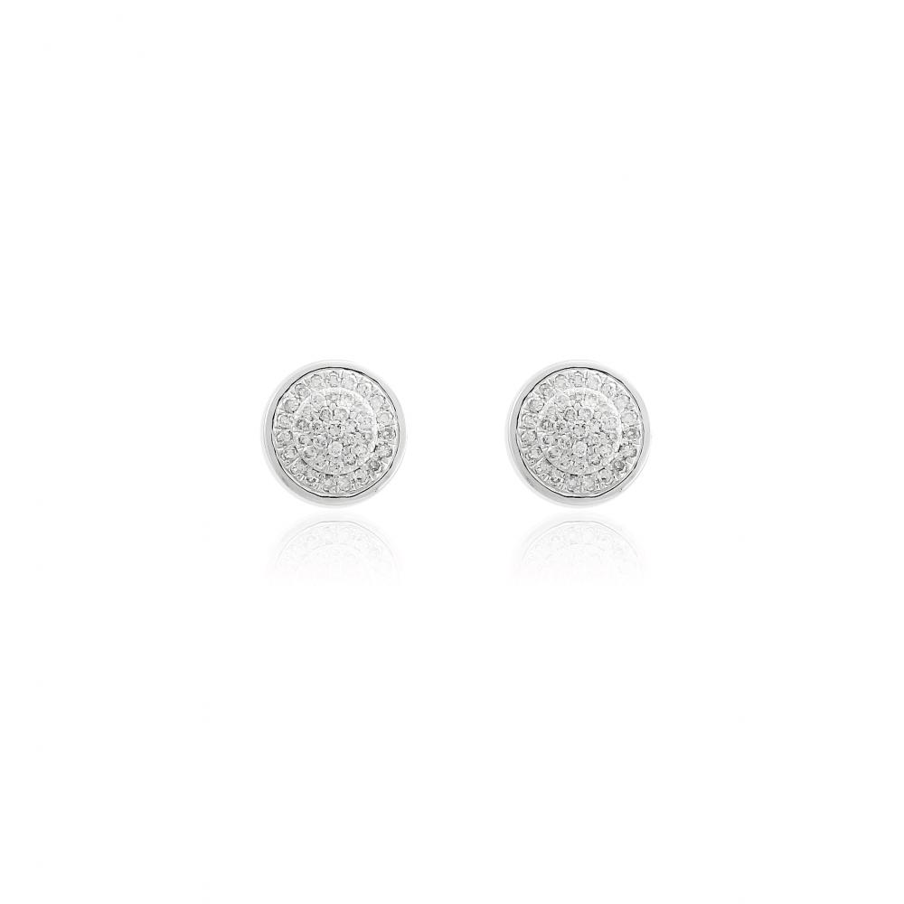 Pendientes Oro Blanco 18k y diamantes