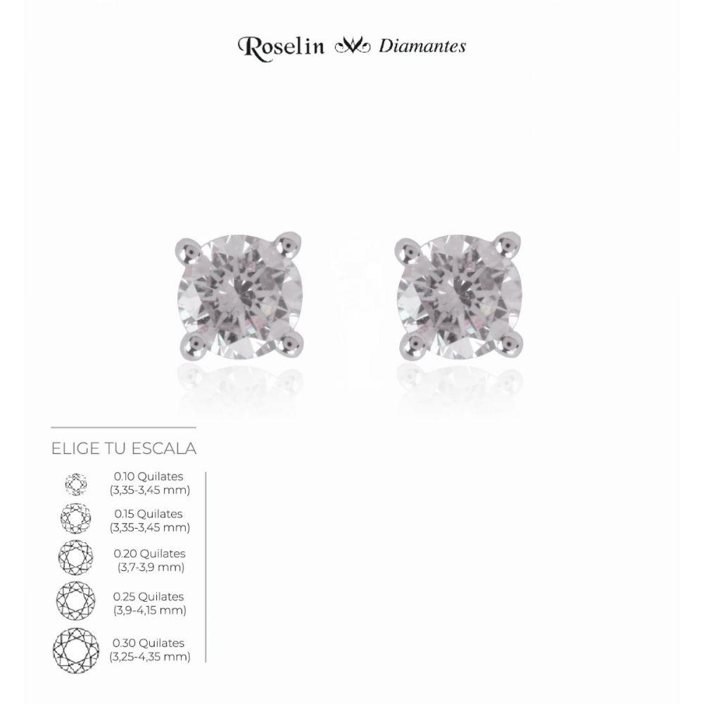 Pendientes Oro 18k Diamante en Garras. Elige tu escala