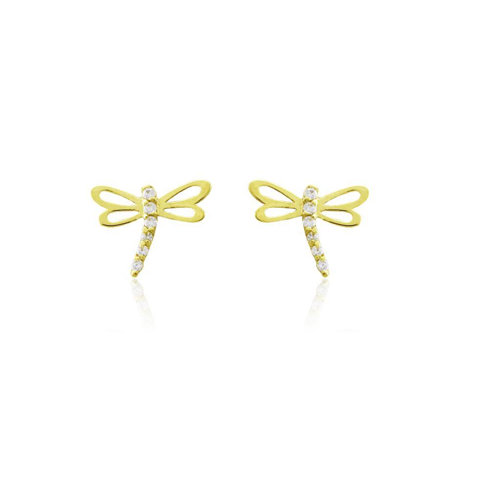 Pendientes Oro9 libélula Roselin Trendy