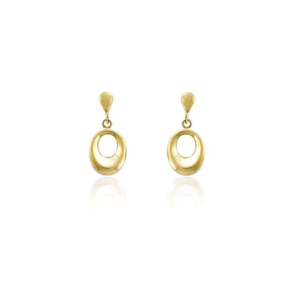 Pendientes oval Oro9 Roselin