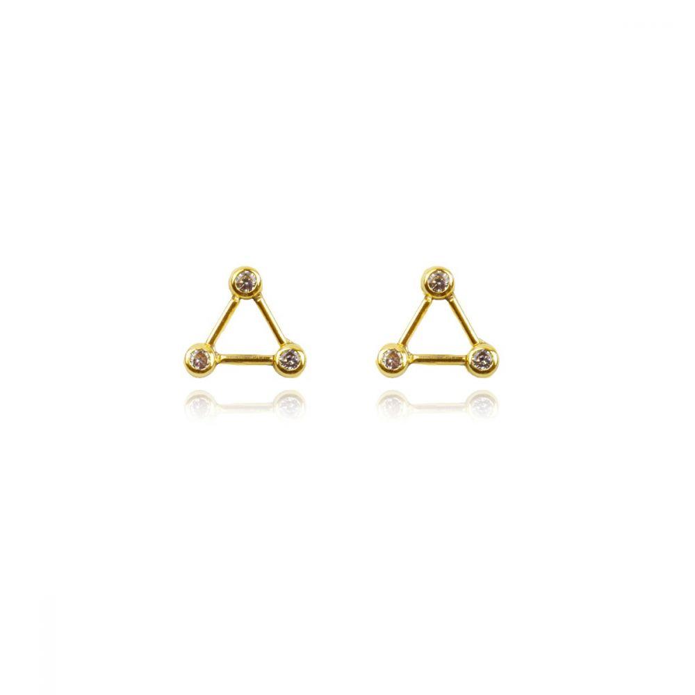 Pendientes Oro 9k triángulo