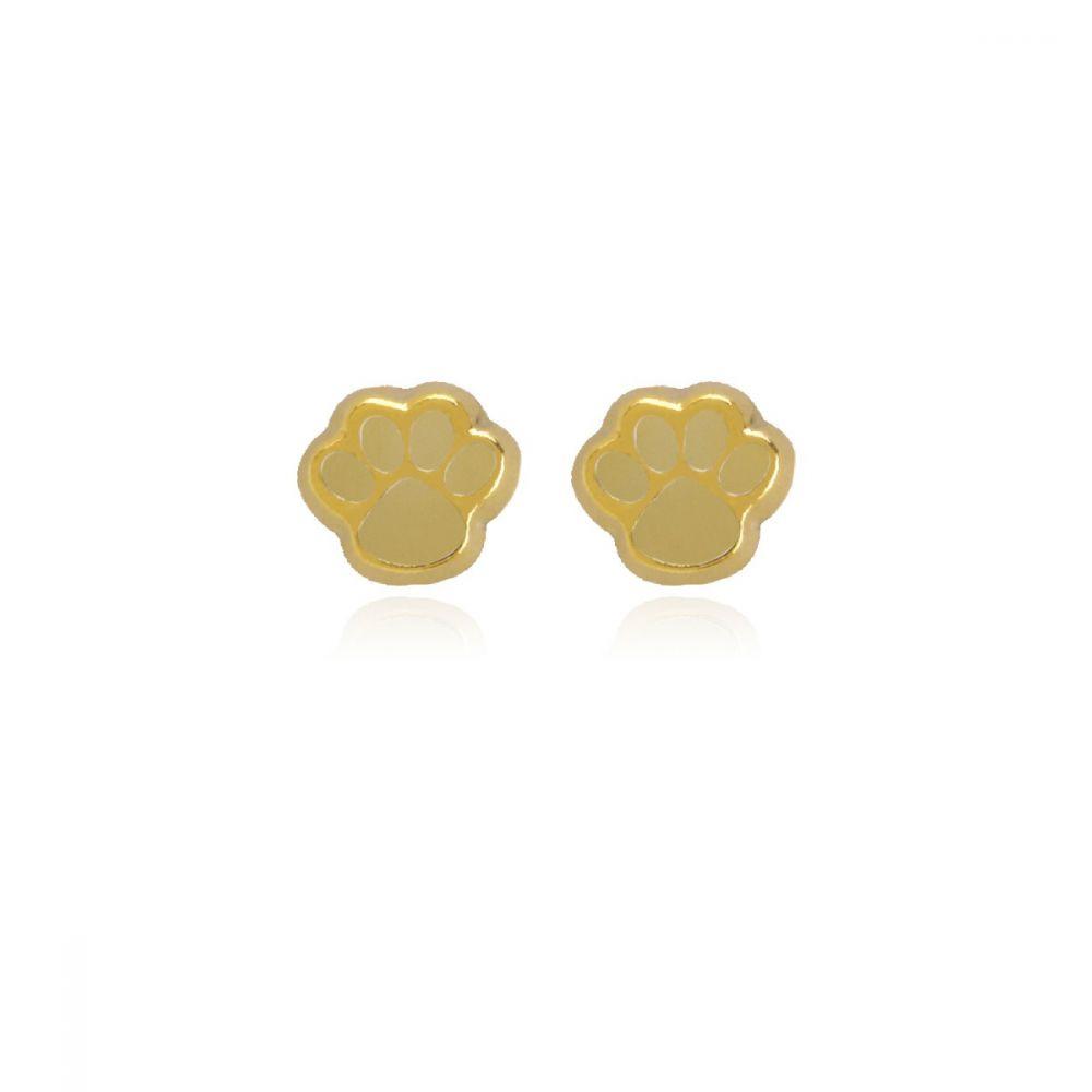 Pendientes Oro 9k huella oro matizado