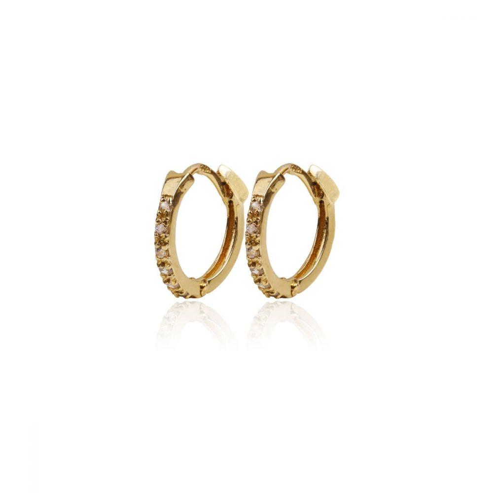 Aros mini Oro ley 9k circonitas