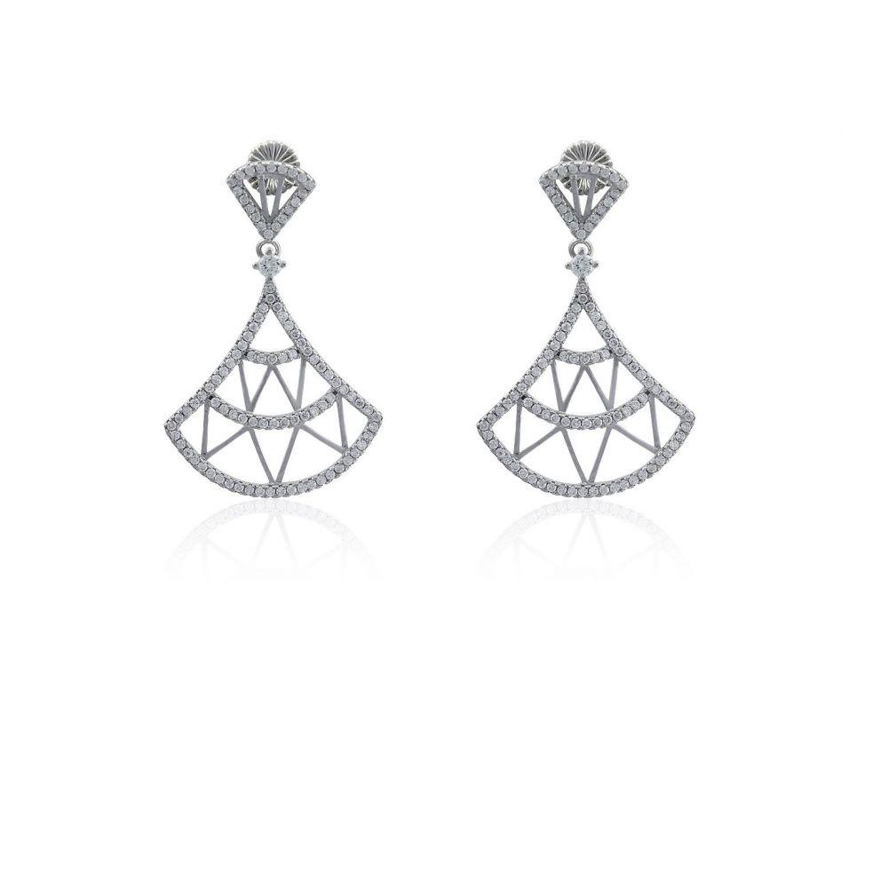 Pendientes plata triangulares Roselin