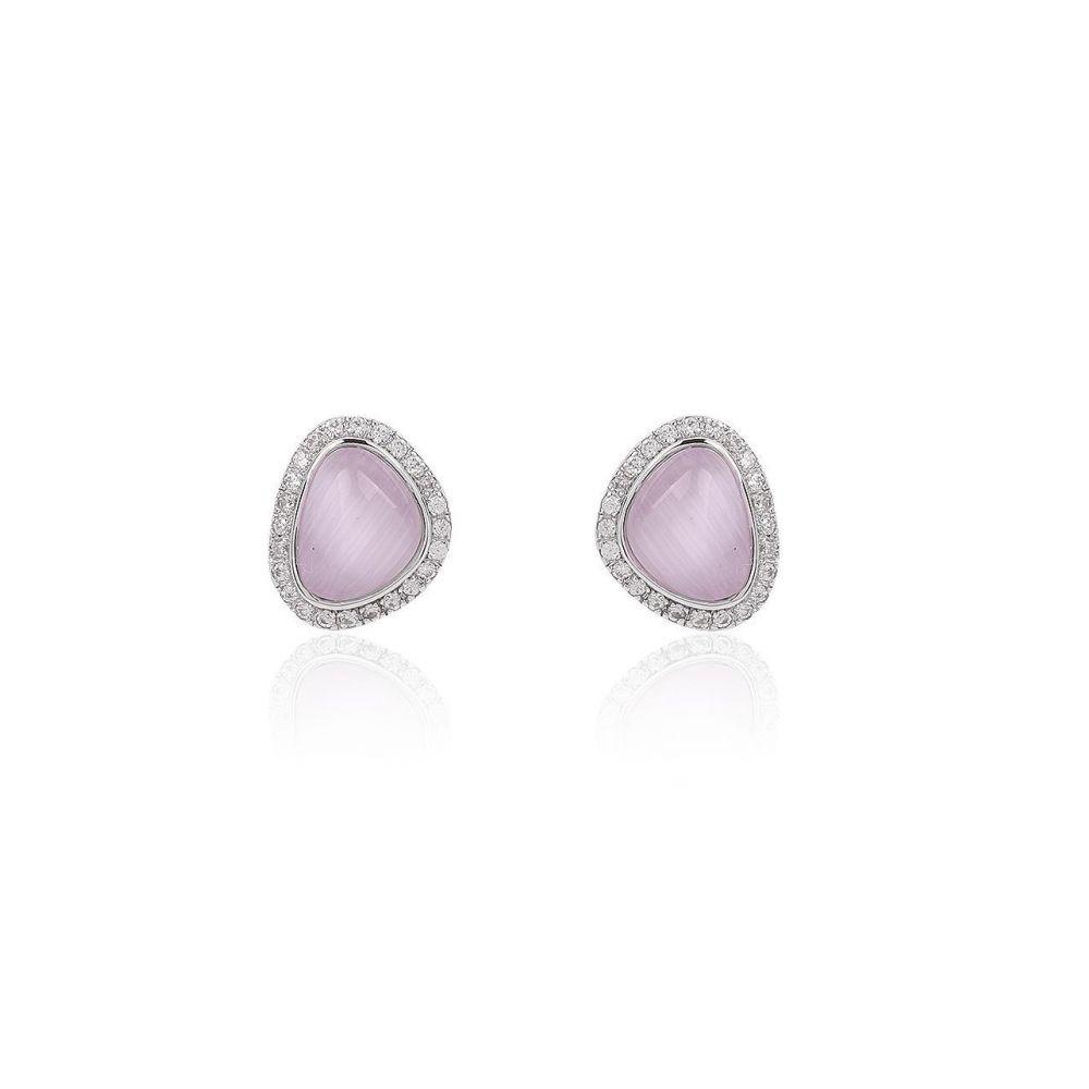 Pendientes plata rosa Luxilver