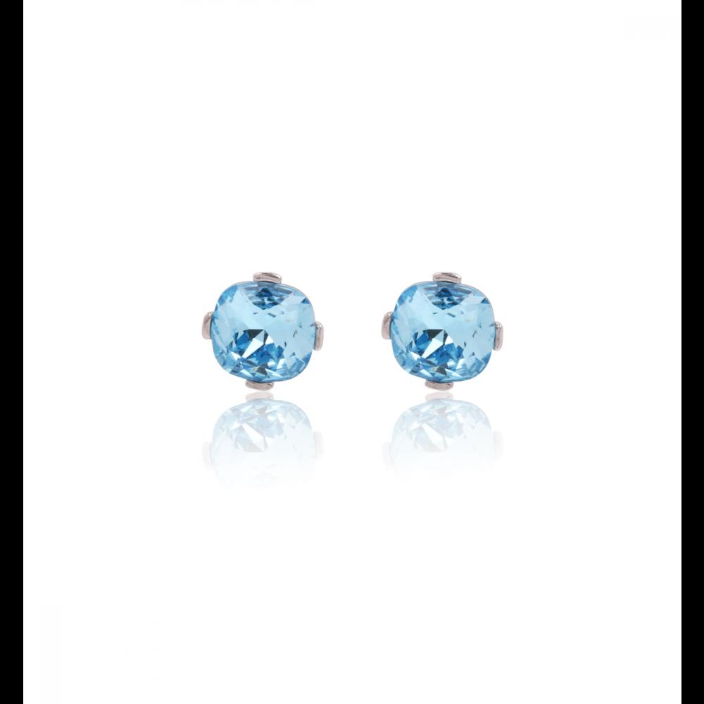 Pendientes Plata Piedra Azul Luxilver