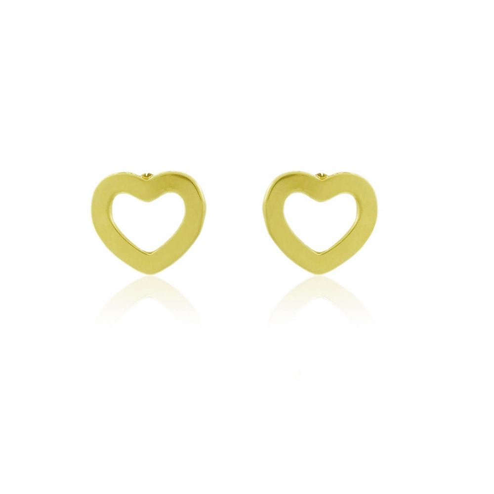 Pendientes plata corazón Roselin Trendy