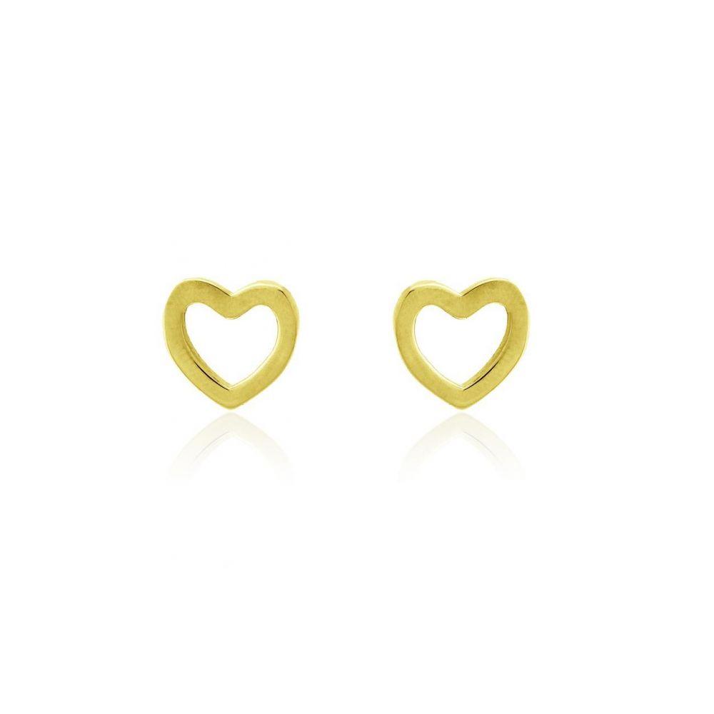 Pendientes plata corazón Roselin