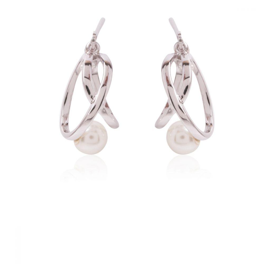 Pendientes perla y nudo Plata Ley