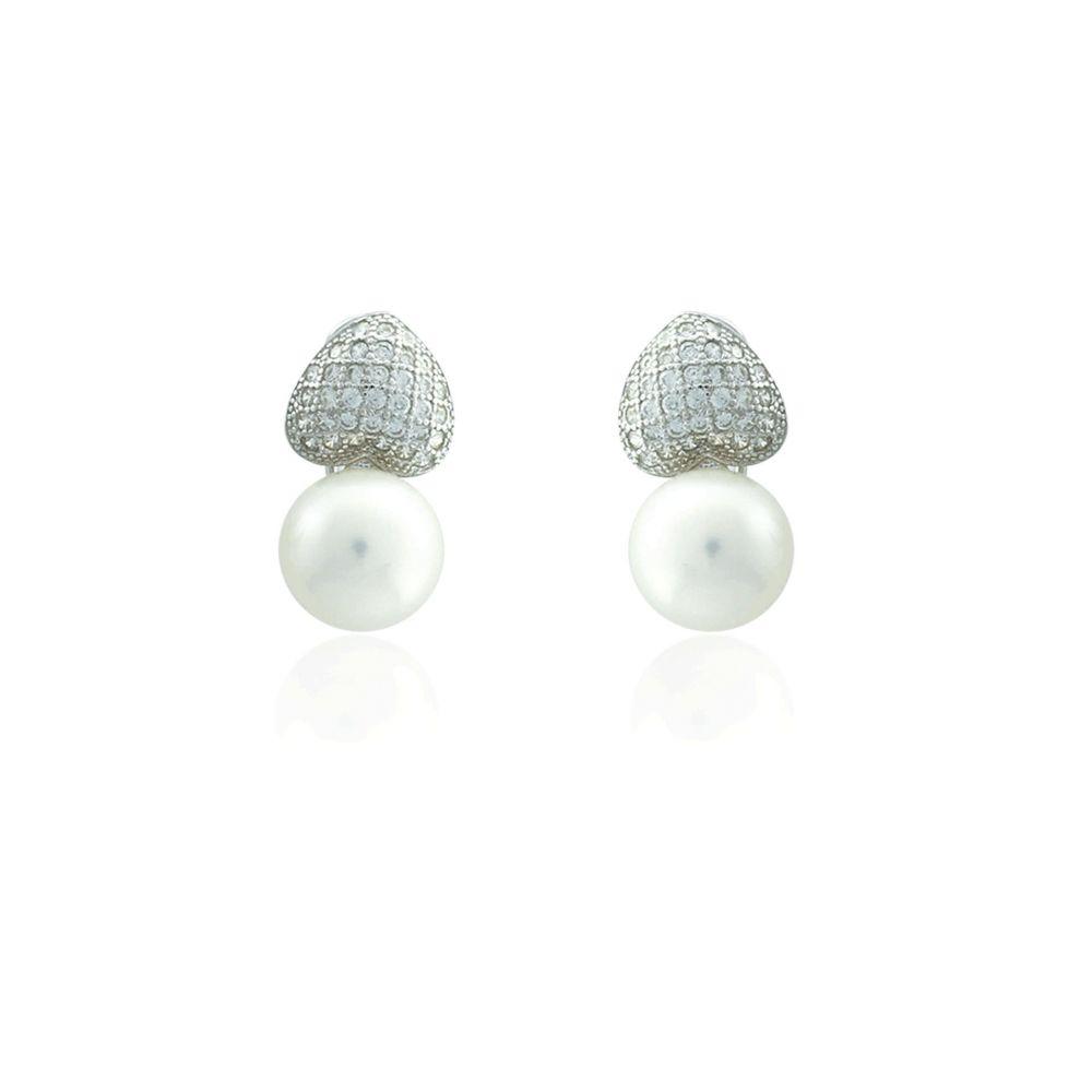 Pendientes plata y perlas Tu y Yo