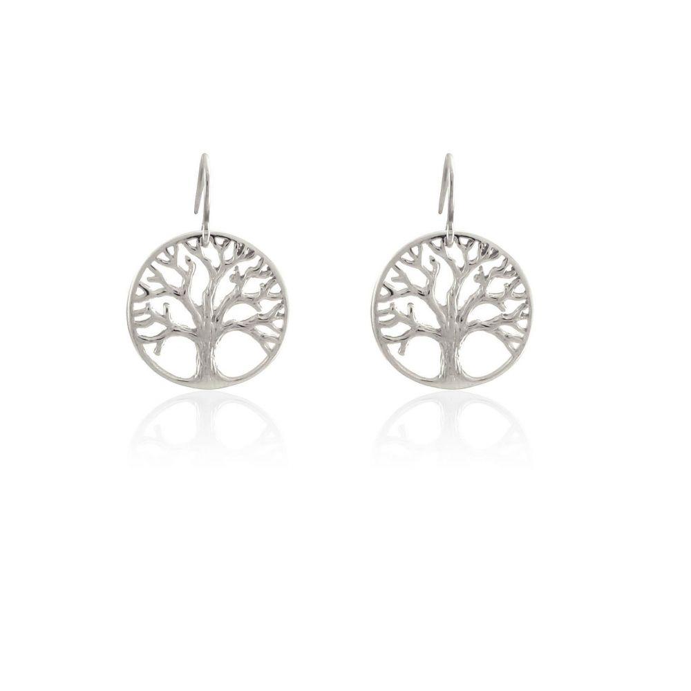 Pendientes plata Árbol de la Vida Roselin Trendy