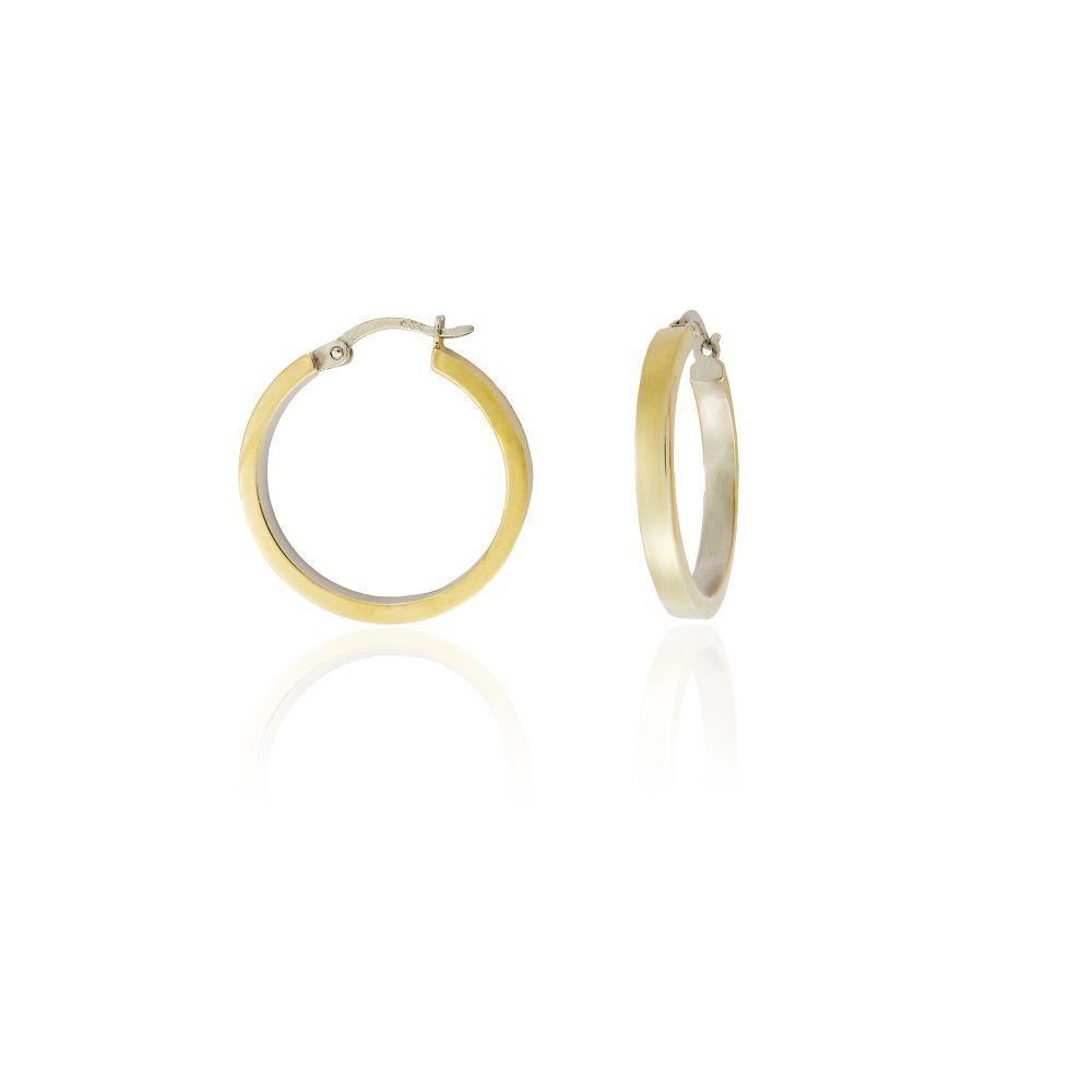 Aros Oro y plata cuadrados 3mm