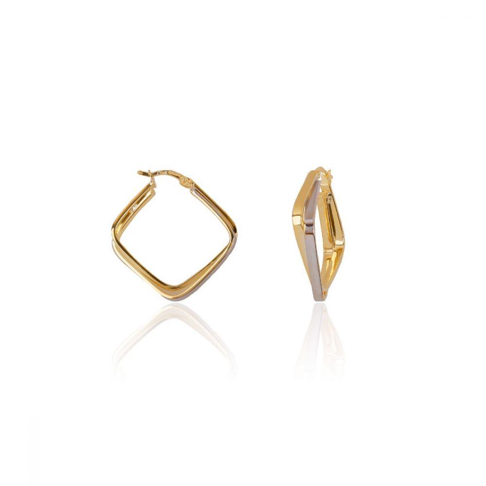 Aros Square Oro y plata