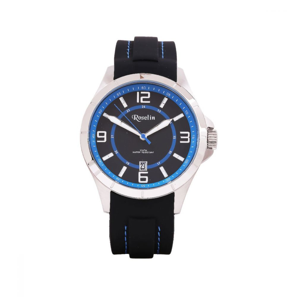 Reloj Caucho Negro y azul Roselin Watches