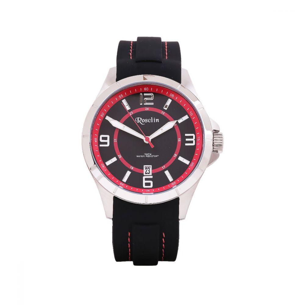 62506a7db700 Reloj Hombre Caucho Negro Roselin Watches