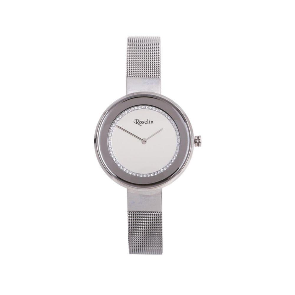 Reloj mujer malla acero y circonitas Roselin Watches
