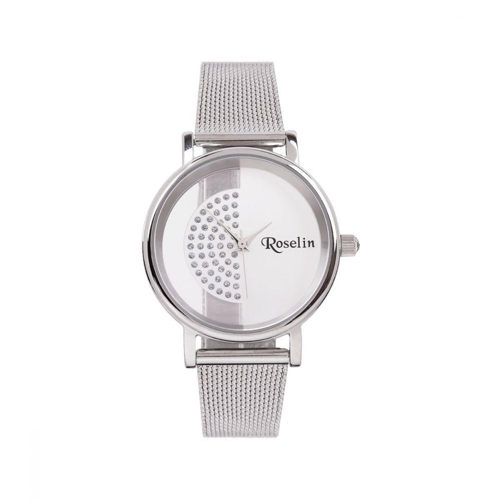 Reloj Malla Acero y circonitas Roselin Watches