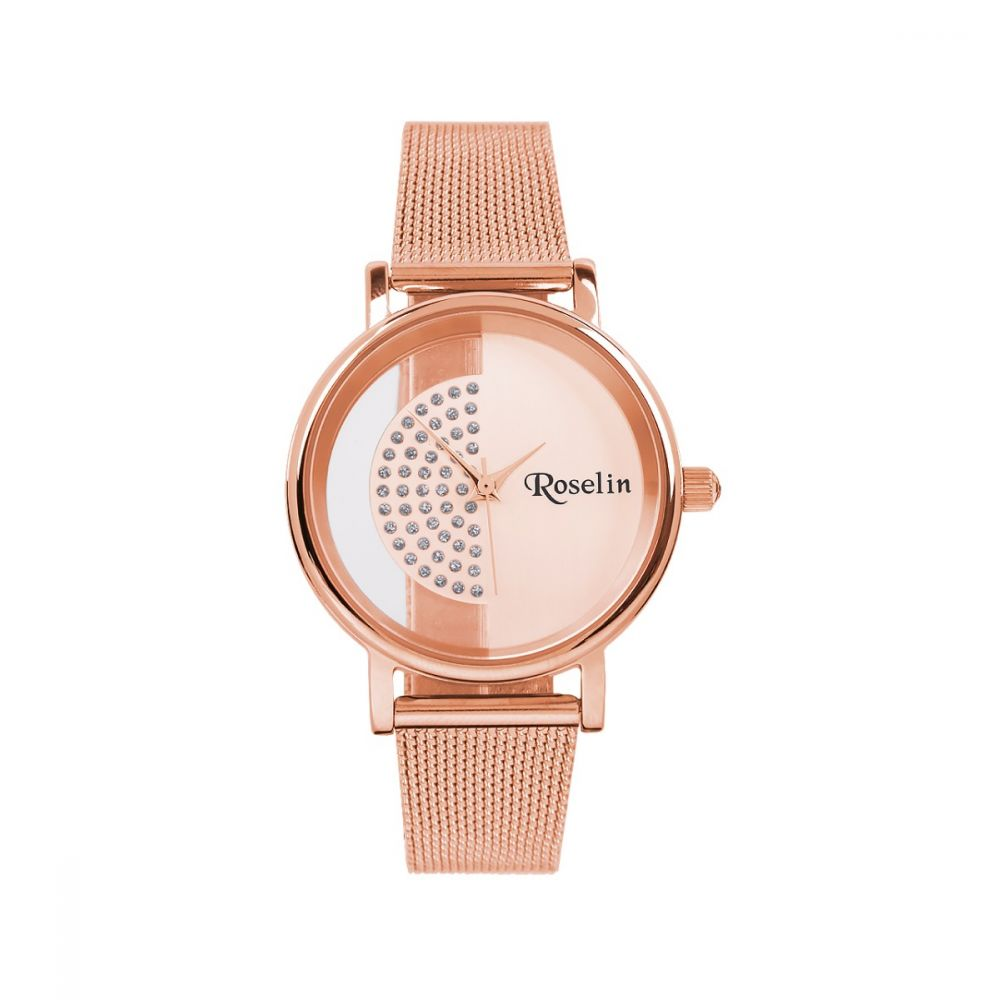 Reloj Malla Acero Rosa Roselin Watches