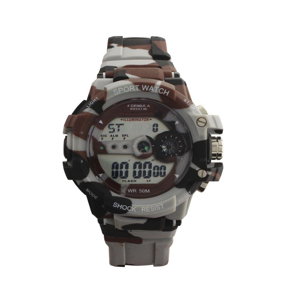 Reloj hombre digital shock camuflaje Fórmula Roselin