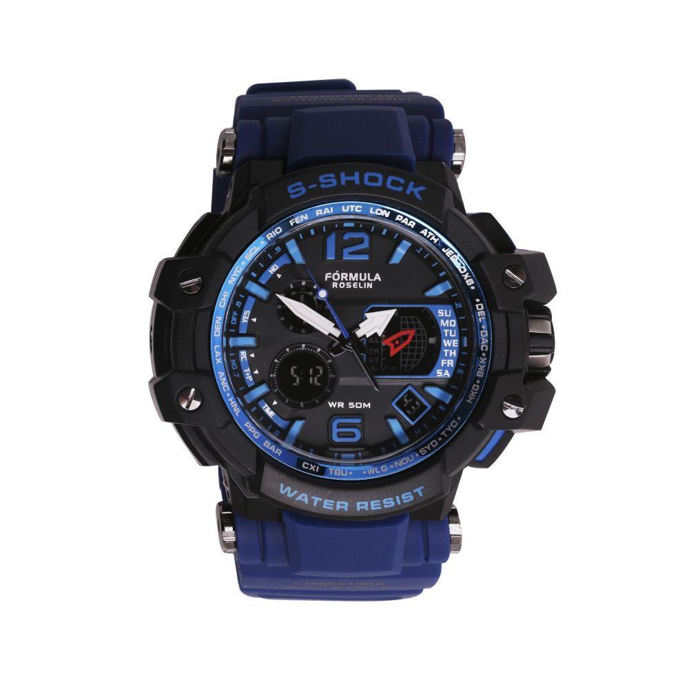 Reloj hombre analógico y digital S-Shock Fórmula Roselin