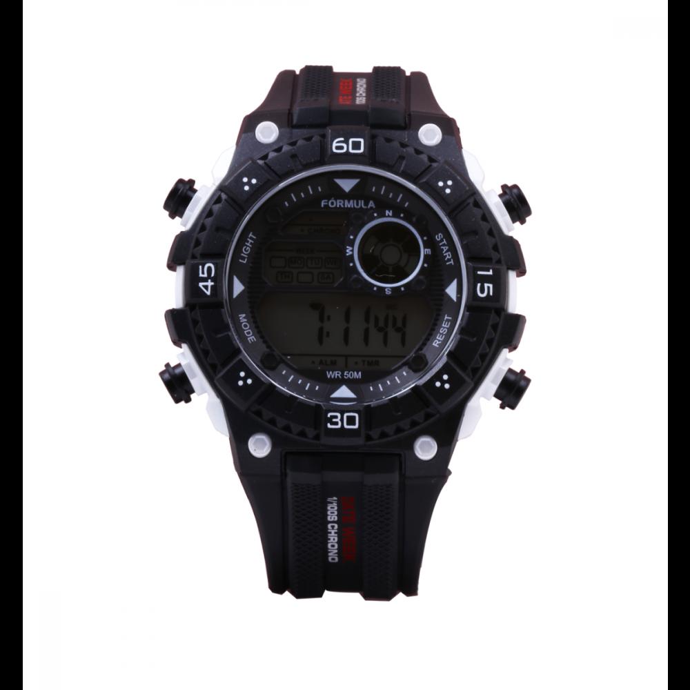 Reloj digital Date Week negro Fórmula Roselin