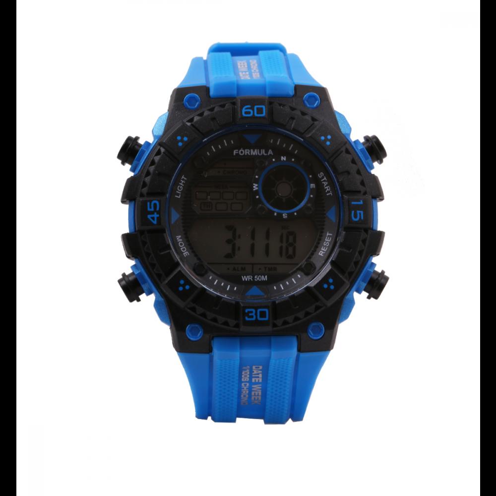 Reloj digital Date Week azul Fórmula Roselin