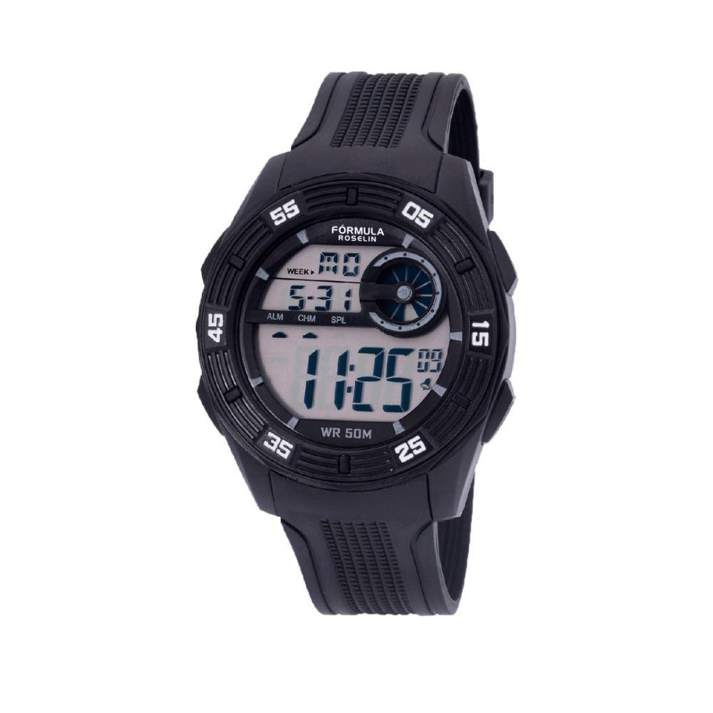 Reloj Digital Caballero Negro Formula Roselin