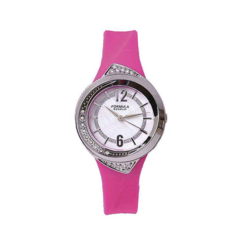Reloj mujer caucho y circonitas Fórmula Roselin