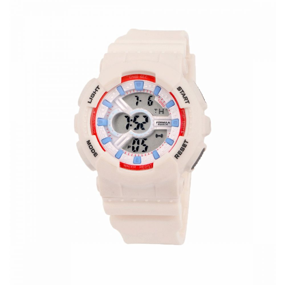 Reloj Digital Blanco Colores Formula Roselin