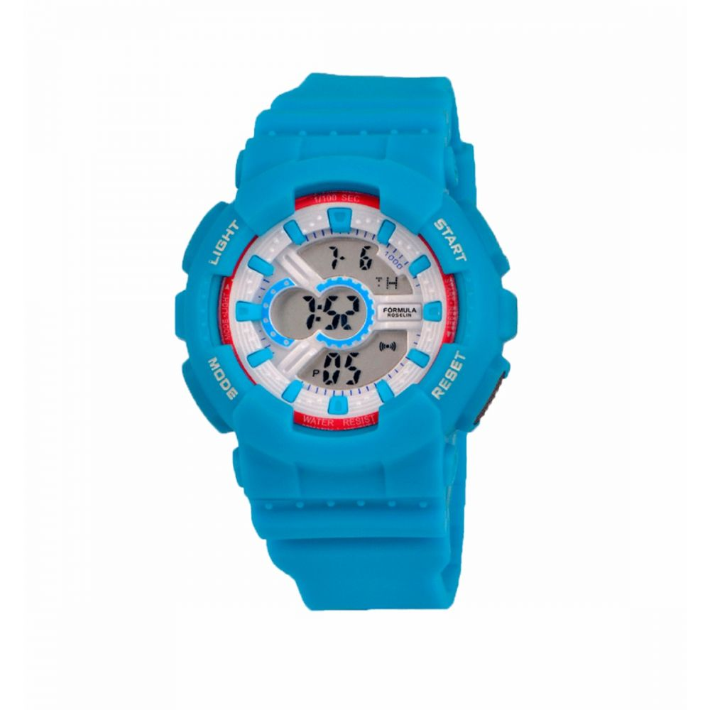 Reloj Digital Azul Rosa Formula Roselin