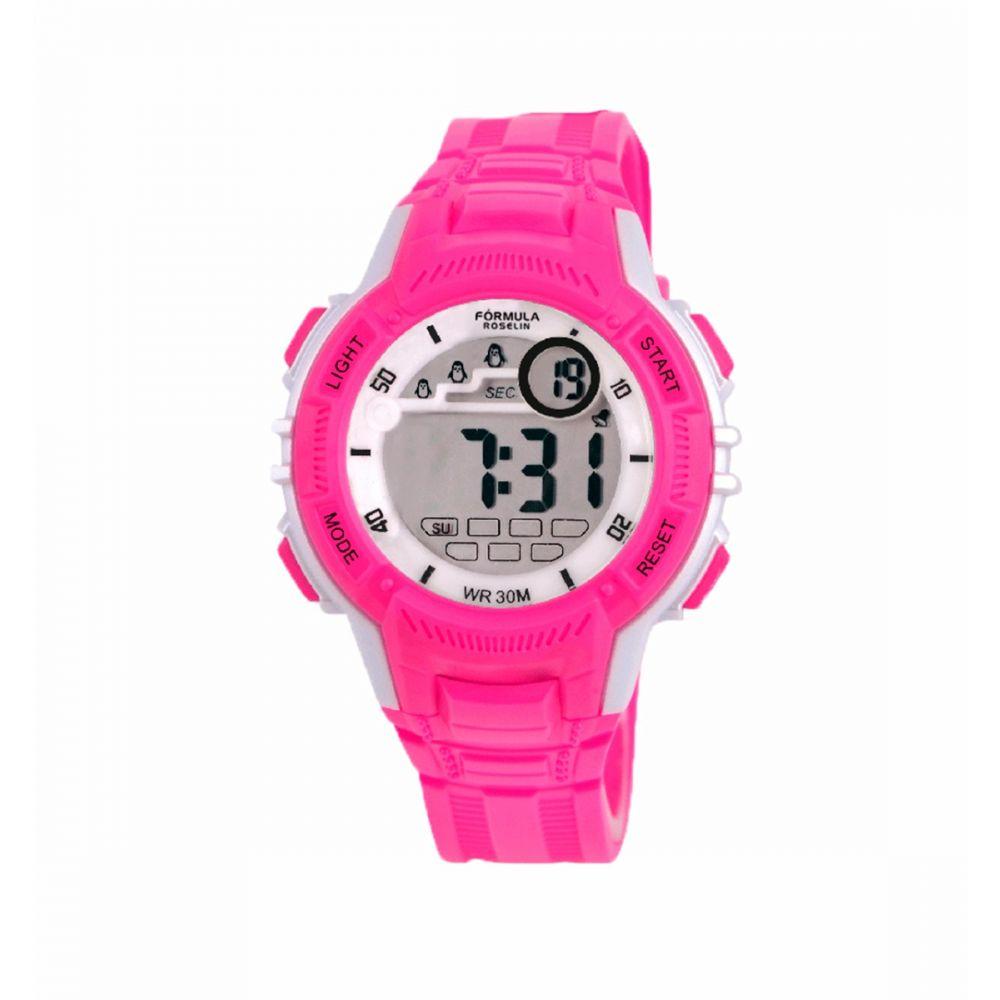 Reloj Digital Rosa Formula Roselin