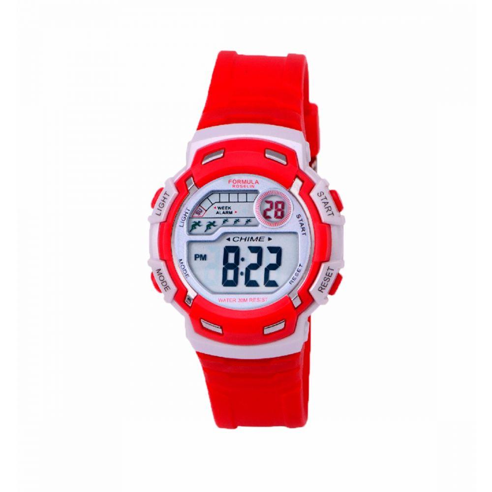 Reloj Digital Rojo Unisex Formula Roselin