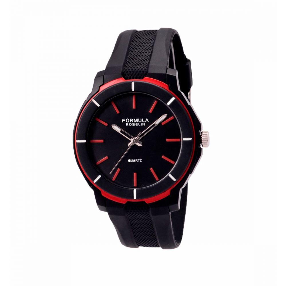 Reloj caucho negro y rojo Fórmula Roslein