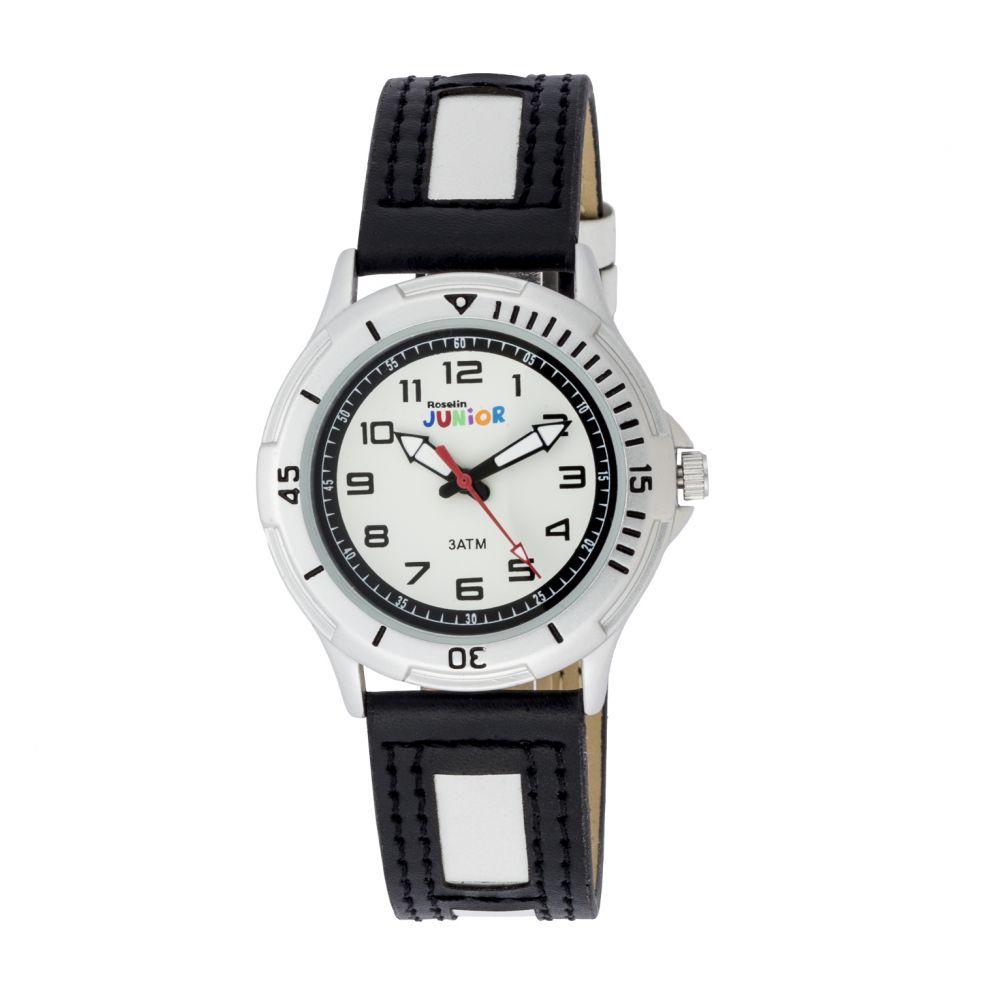 Reloj infantil blanco y negro Roselin Junior