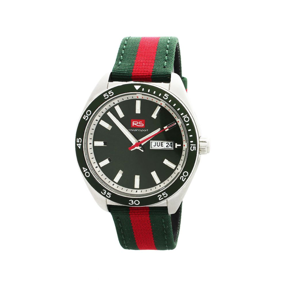 Reloj hombre acero y nylon RS Roslain Sport