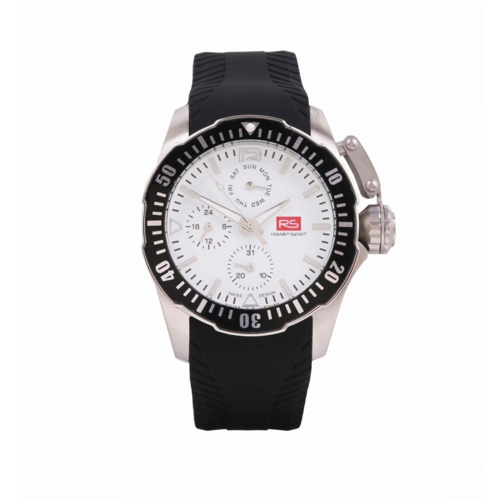 Reloj Hombre Acero Bisel Blanco RS Roslain Sport