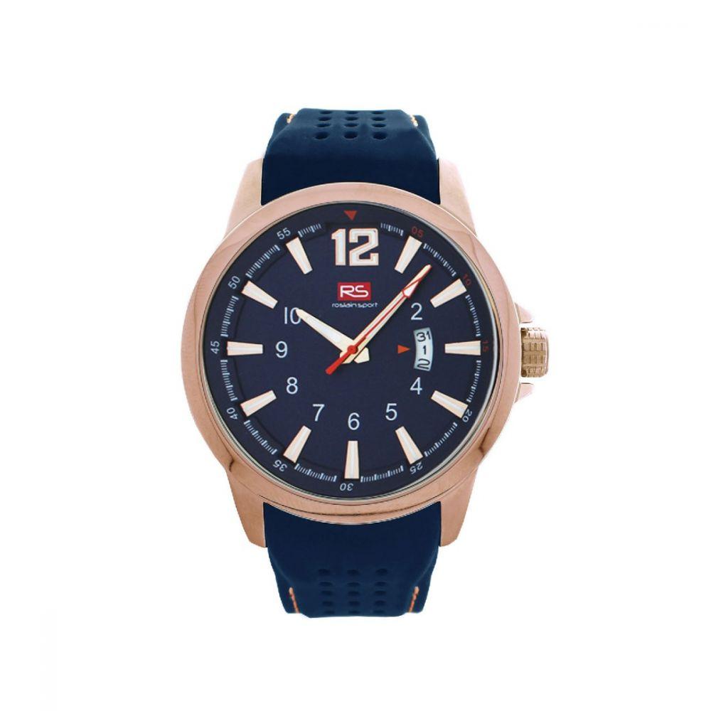 Reloj acero rosa y correa azul RS Roslain Sport
