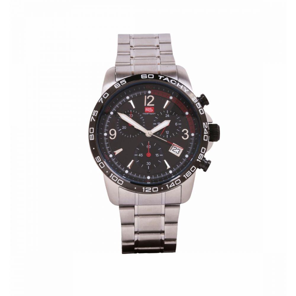 Reloj Hombre Cronografo Acero Negro RS Roslain Sport