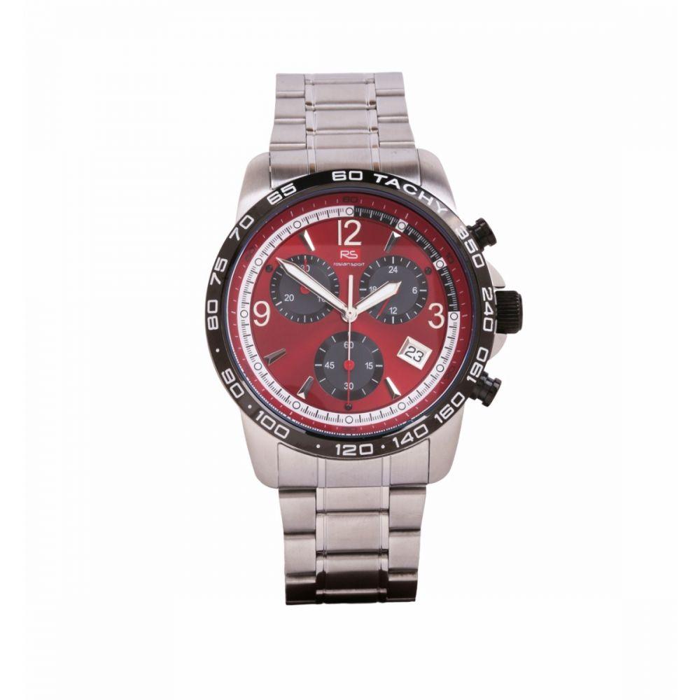 Reloj Hombre Cronografo Acero Rojo RS Roslain Sport