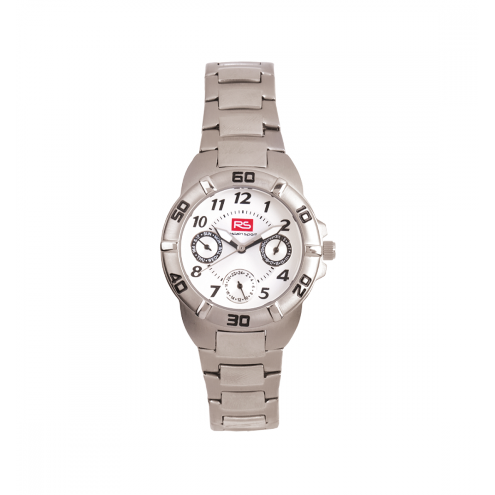 Reloj Unisex Multifunción Gris RS Roslain Sport
