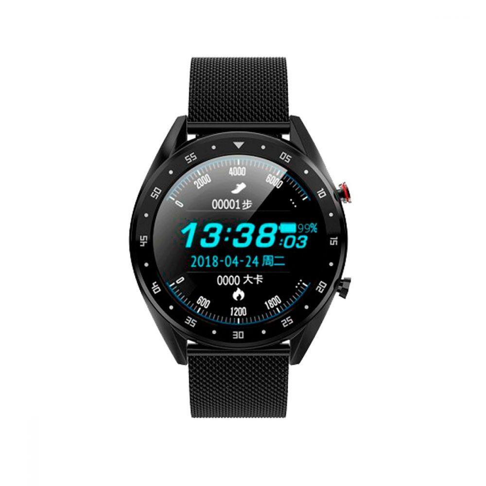 Reloj Smartwatch llamadas malla negra Roselin Watches